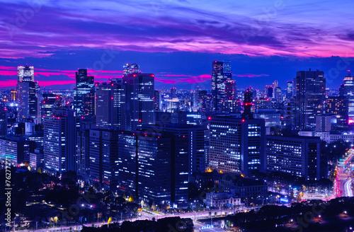 Fotobehang Tokyo 東京の霞ヶ関の夜景