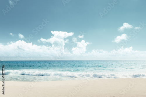 Deurstickers Strand tropical beach