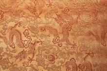 Dragon Designed On Fabric