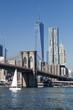 The New York Downtown w Brooklyn Bridge