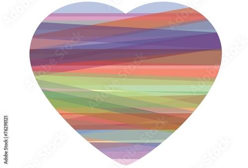 Fotografie, Obraz  Stampa Biglietto Auguri Amore San Valentino 14 Febbraio