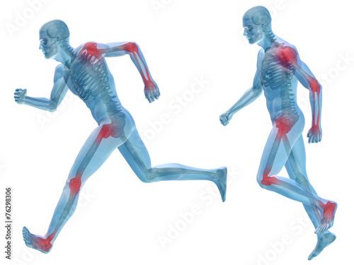 Photo 3D human man pain anatomy isolated