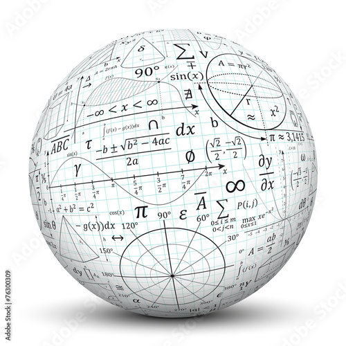 Fotografie, Obraz  Kugel, Mathematik, Icon, Symbol, Math, Sphere, 3D, Formeln, Uni