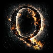 Fire Alphabet. Letter Q.