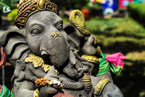Photo  Ganesha made of stone in Thailand