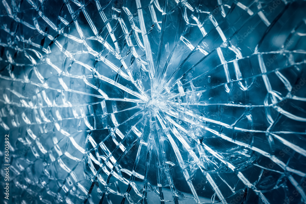 Fototapeta broken glass closeup