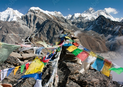 Wall Murals Nepal view of everest from gokyo ri - way to Everest base camp