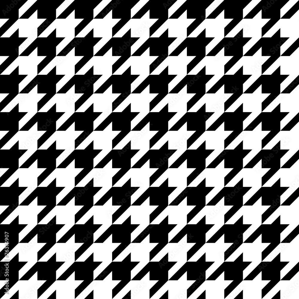 Fototapeta Houndstooth pattern, seamless illustration
