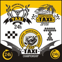 Taxi Symbols, And Elements For...