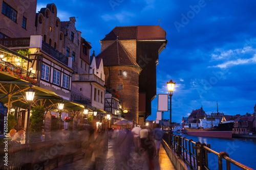 fototapeta na drzwi i meble Stare miasto w Gdańsku na Motławą