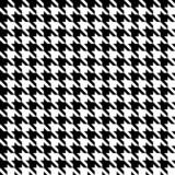 Seamless Houndstooth Pattern Czarny / Biały - 76322507