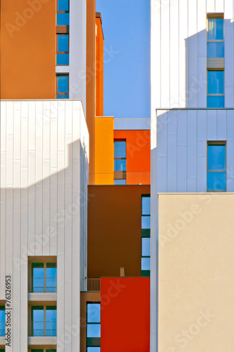 Photo  rhythm and color are the new architectural motifs in milan . Mod