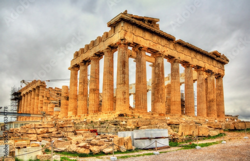 Staande foto Athene View of the Parthenon in Athens - Greece