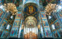 Interior Of Church Of Savior On Spilled Blood, Saint Petersburg, Russia