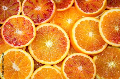 arance tarocco affettate