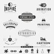 Retro Vintage Labels Logo design vector badges