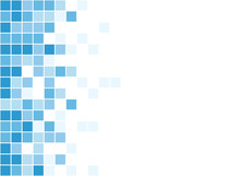 A Blue Pixel Art Style Vector Background Over White
