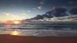 Beautiful cloudscape over the sea, video
