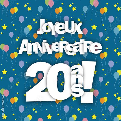 Carte Joyeux Anniversaire Pour Tes 20 Ans Fete Felicitations Buy This Stock Vector And Explore Similar Vectors At Adobe Stock Adobe Stock