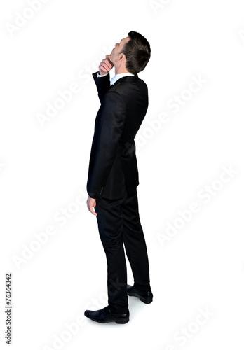 Fotografía  Business man looking up