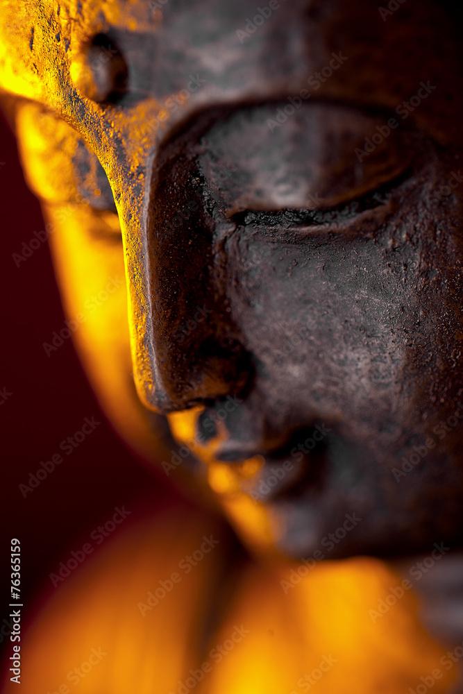 Fotografie, Obraz  Buddha figur Kopf