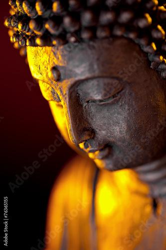 Fotografie, Obraz  Buddha Statur Glaube