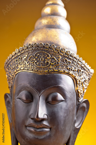 Fotografie, Obraz  Buddha hlava z Asie