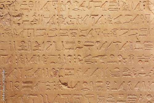 Tuinposter Egypte Egyptian hieroglyphs stone background