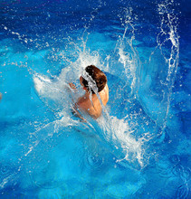 Child In Swimming Pool, Summer...