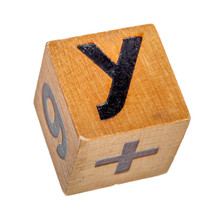 Wooden Block With Capital Letter Y
