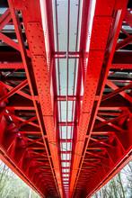 Historic Red Railroad Bridge