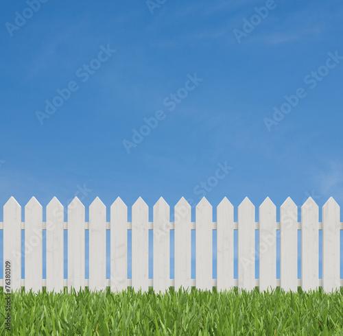 Fotografía  white fence