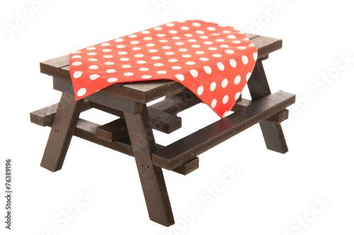 Foto op Aluminium Picknick wooden picnic table