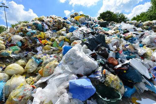 Fotografie, Obraz  Müll, Plastik, Deponie, Recycling, Wertstoff, Entsorgung