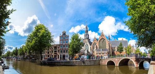 Poster Amsterdam Oude Kerk (Old Church) in Amsterdam
