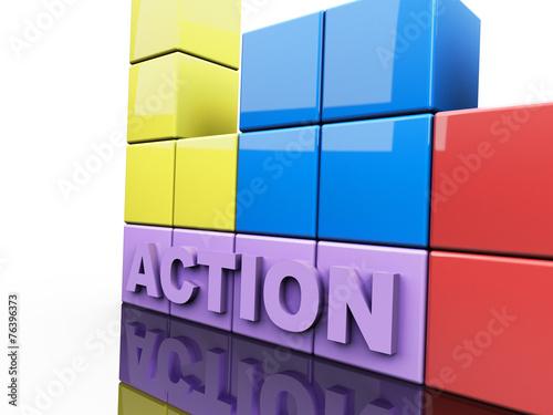 Photo  Action 3D Concept