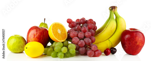 Foto op Aluminium Vruchten Ripe fruits isolated on white background