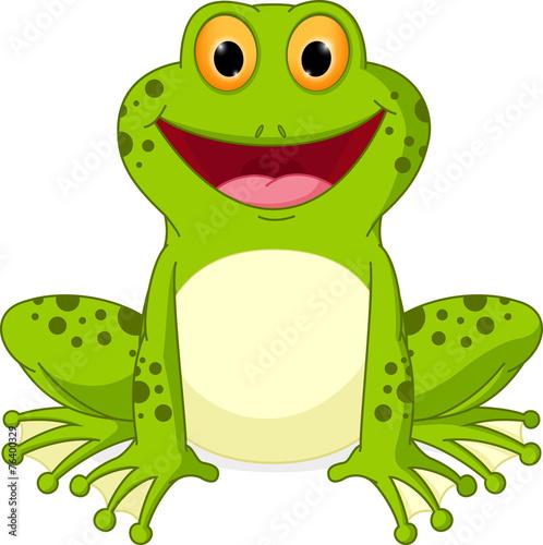 Fotografie, Obraz  Happy Frog cartoon
