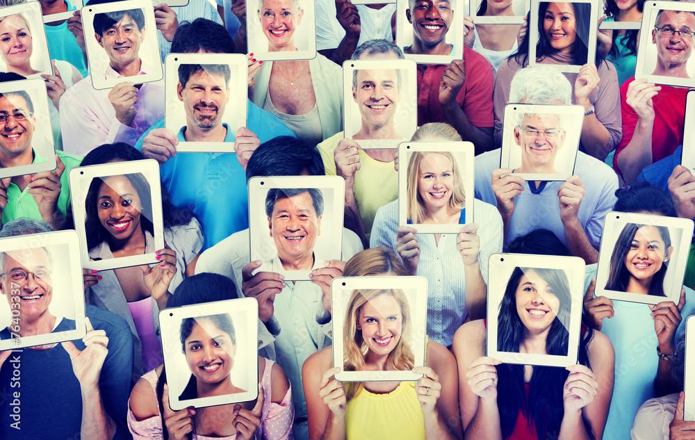 Fototapeta Diversity Casual People Communication Technology Concept