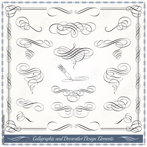 Photo  Calligraphic Decorative Design Elements
