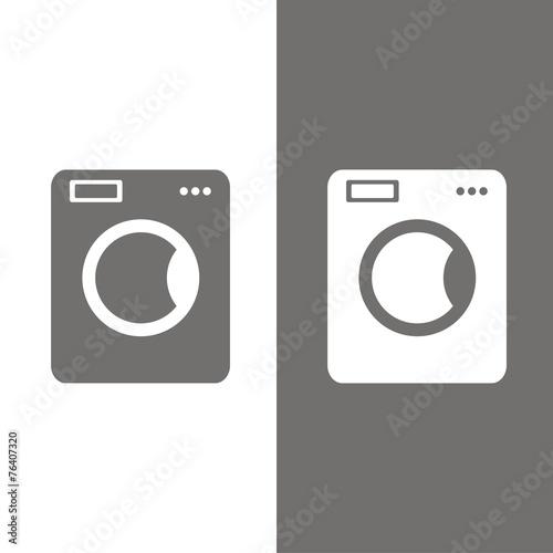 Fotografie, Obraz  Icono lavadora BN