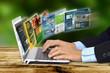 canvas print picture - Internet Concept on Laptop