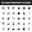 Bathroom Icon Set