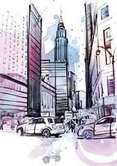 Panel Szklany Wieżowce American Street