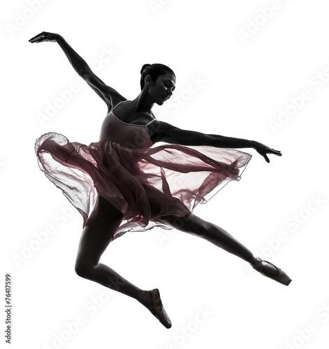 fototapeta na lodówkę kobieta tancerz taniec balet sylwetka