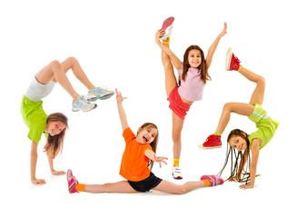 Szczęśliwe sportowe dzieci
