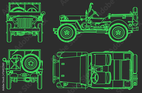 car off-road technical draw background - Buy this stock vector and ...