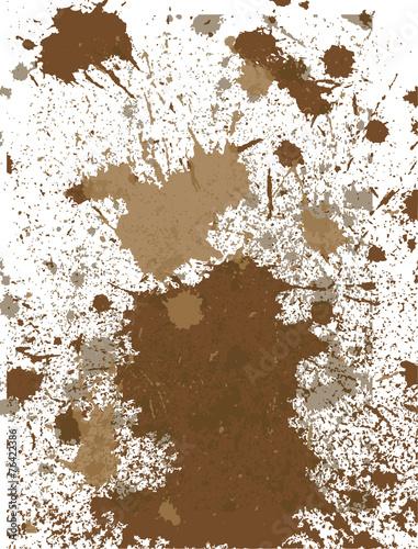 Mud vector Wall mural