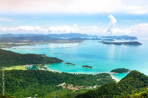 Pinturas sobre lienzo  Tropical Langkawi Island landscape, Malaysia