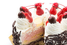 Ice-cream Cake Isolated On Whi...